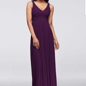 Plum brideamaid dress